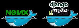 Logos Docker Nginx uWSGI Django