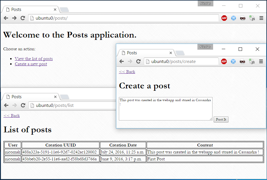 Webapp screenshot